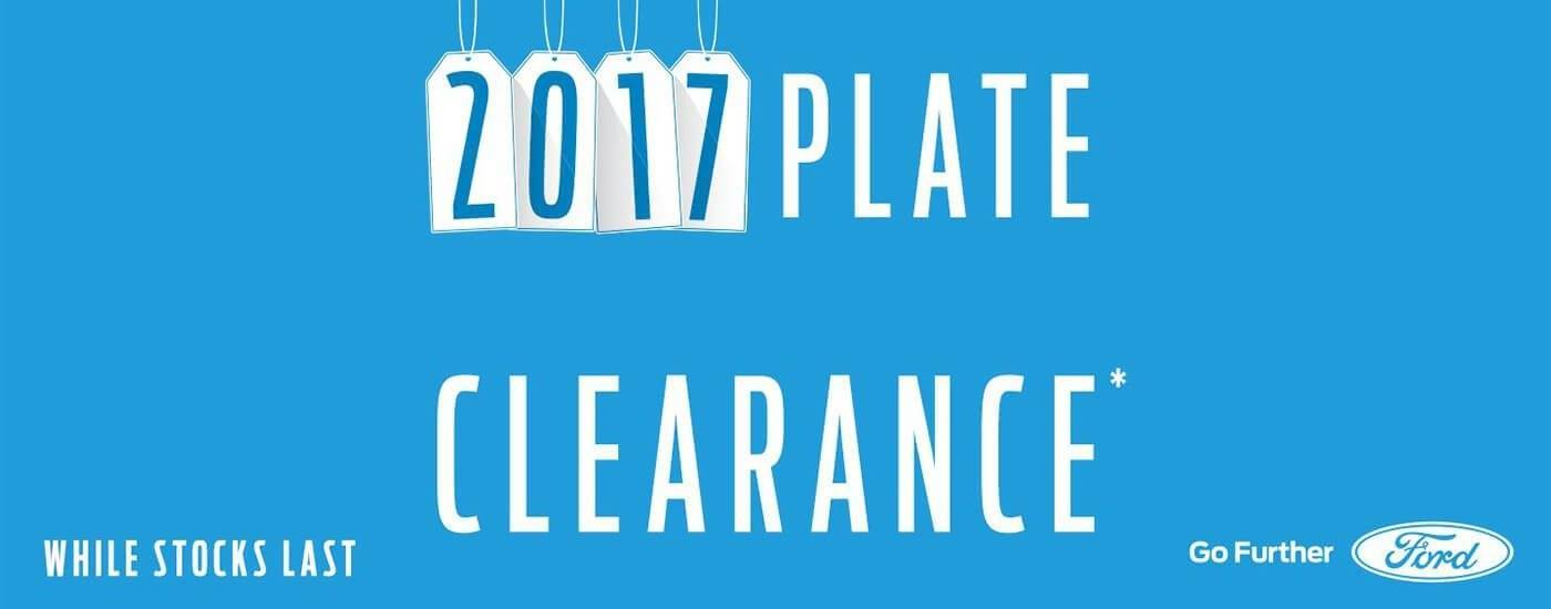2017 Ford Plate Clearance