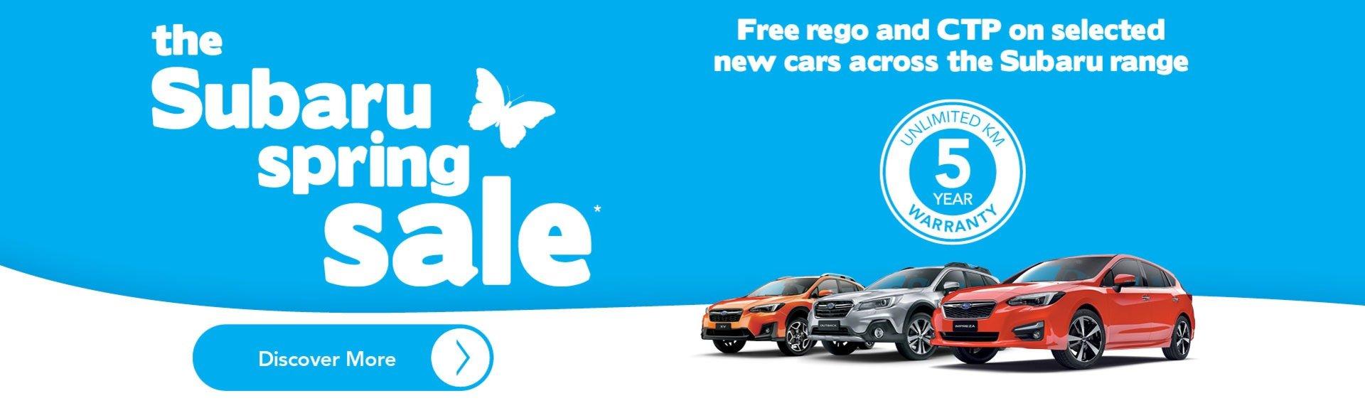 The Subaru Spring Sale