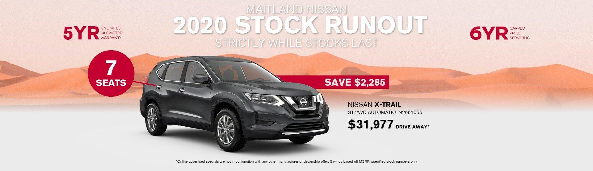 2020 Nissan X-trail special