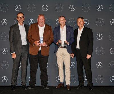 L-R Horst Von Sanden, CEO Mercedes-Benz Australia & New Zealand | Paul Hepburn, Callaghan Motors | Jarrod Harrison, C&G Mercedes-Benz Sales | Joerg Schmidt, Director of Sales Mercedes-Benz Australia. image