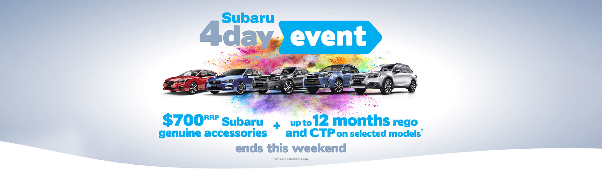 Subaru Dealer 4 Day Sale