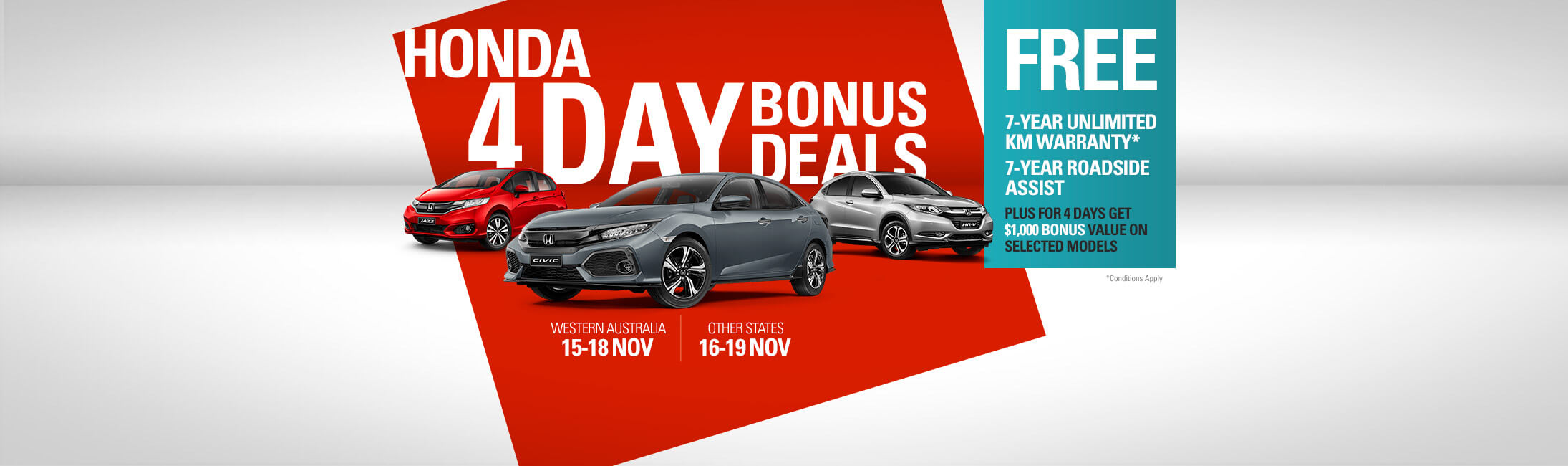 Honda 4 Day Sale