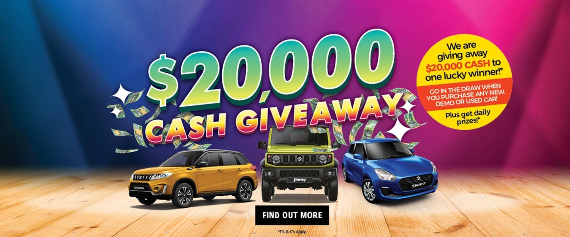 $20K Cash Giveaway