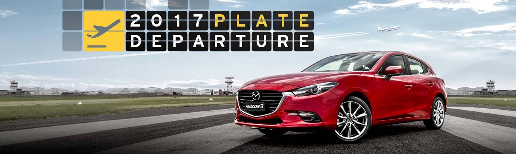 Mazda 2017 Plate Departure