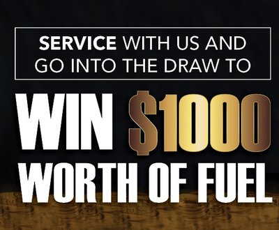 Win $1,000 worth of fuel sign image