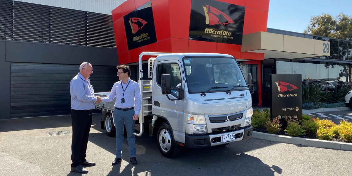 blog large image - Whitehorse Fuso donate a Fuso Canter 413 Trade Pack Truck to the Million Dollar Lunch for the Children's Cancer Foundation