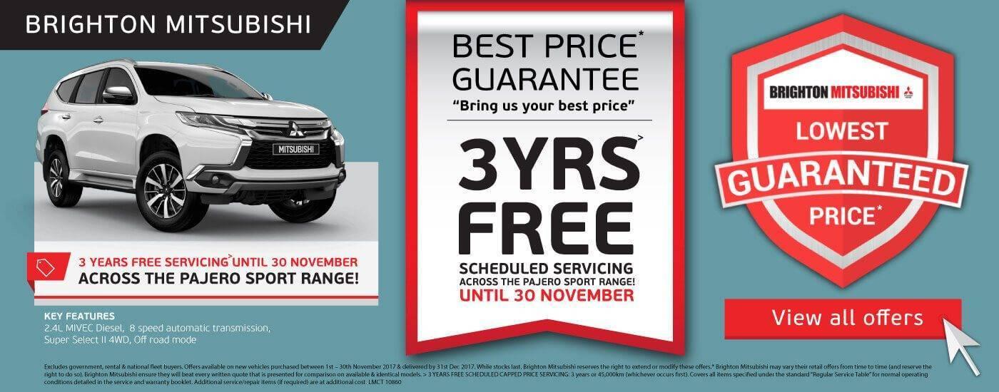 Brighton Mitsubishi Pajero 3 Years Service Offer