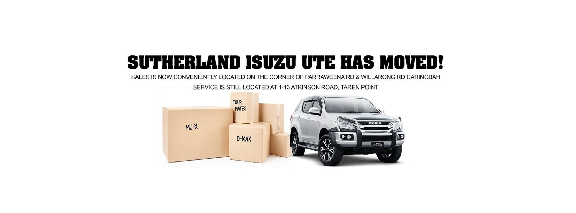 Sutherland Isuzu UTE - Sales Relocation