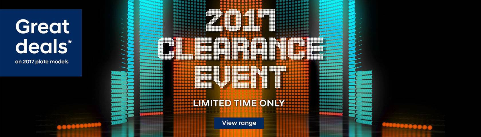 Hyundai 2017 Clearance Event