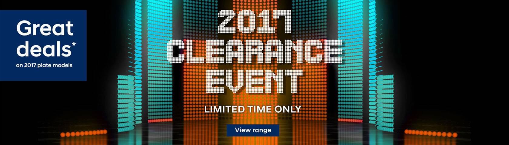 Hyundai 2017 Clearance Event