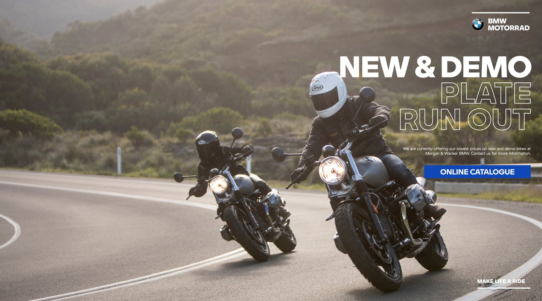 Morgan and Wacker BMW New and Demo Bike Plate Clearance