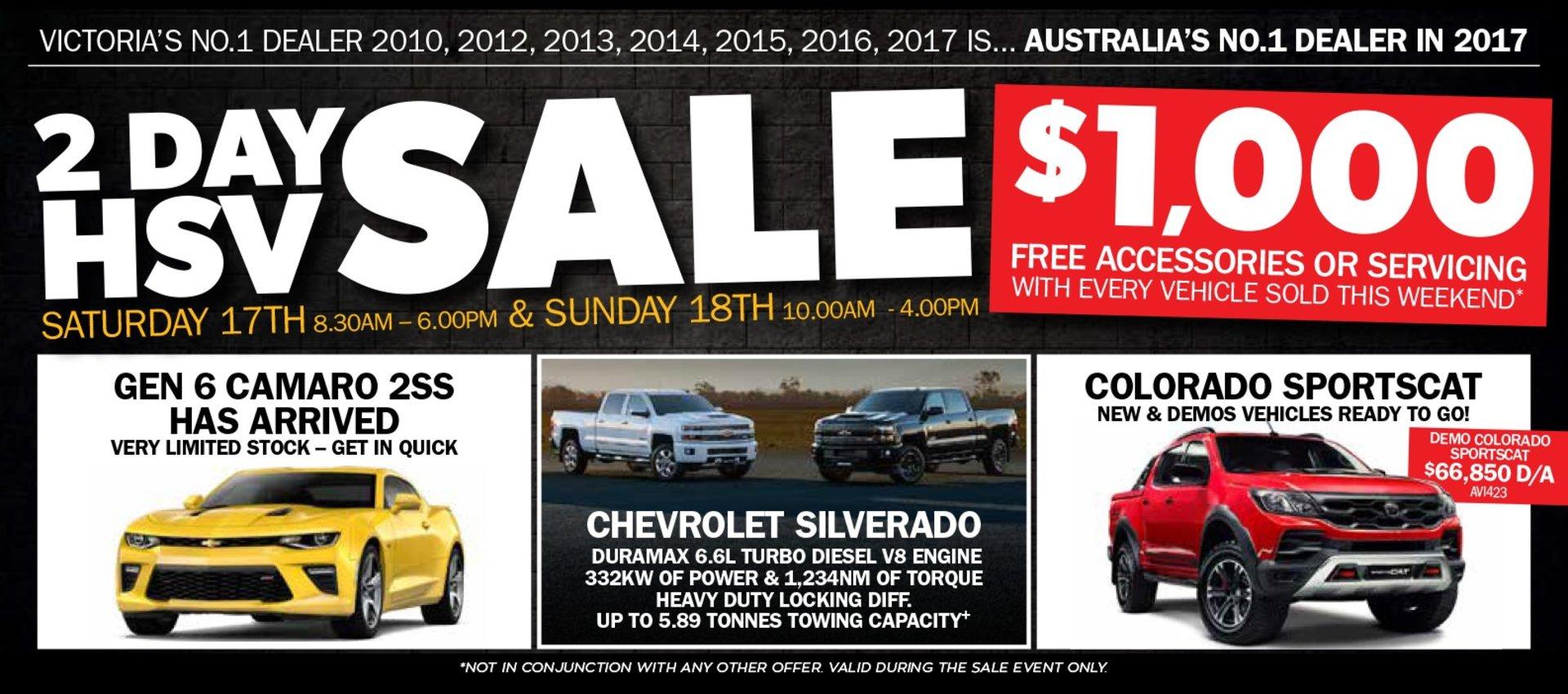 FTG HSV 2 Day Sale