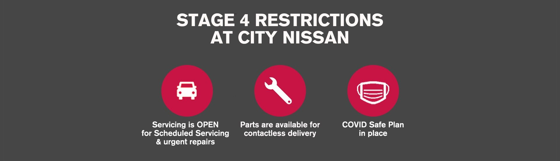 Stage 4 Restrictions at City Nissan