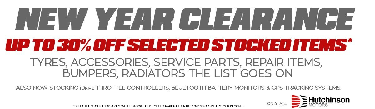 Hutchinson Motors New Year Parts Clearance Large Image