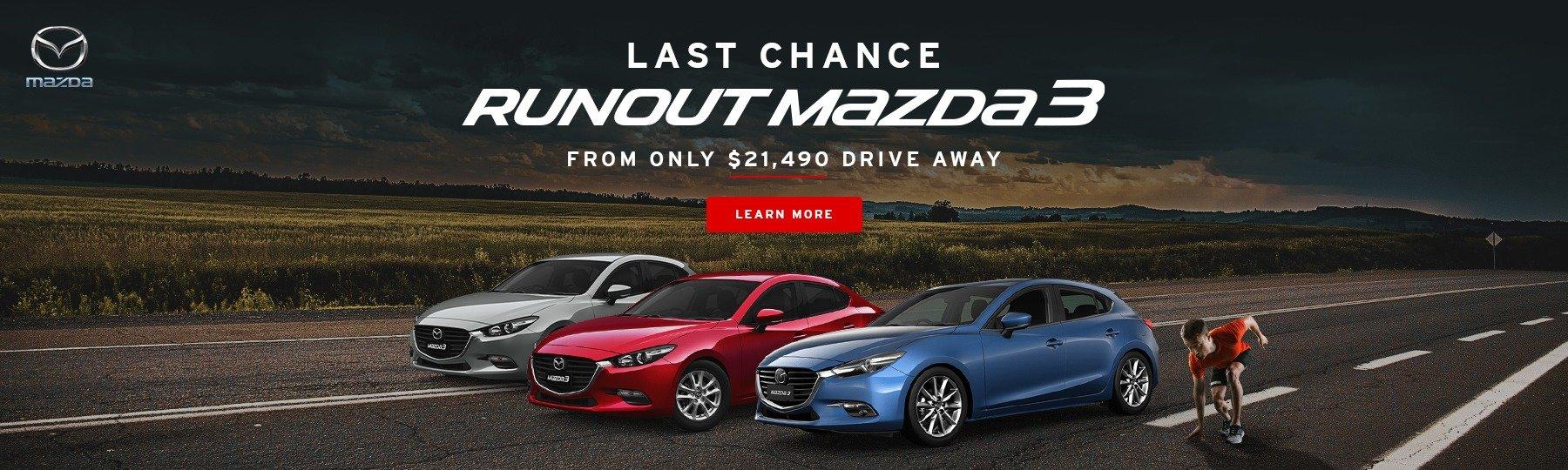 Mazda 3 Run Out Sale