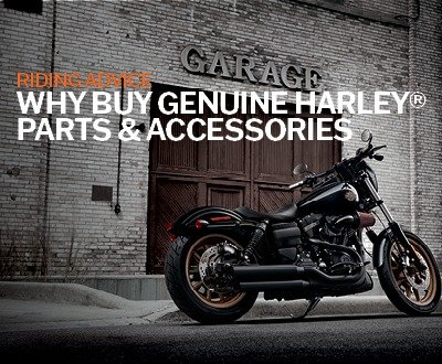 There are many benefits in opting for Genuine Harley Davidson® Parts & Accessories on your Harley® motorcycle. Customising and modifying your dream bike to best suit your lifestyle is a large part of Harley® culture. image