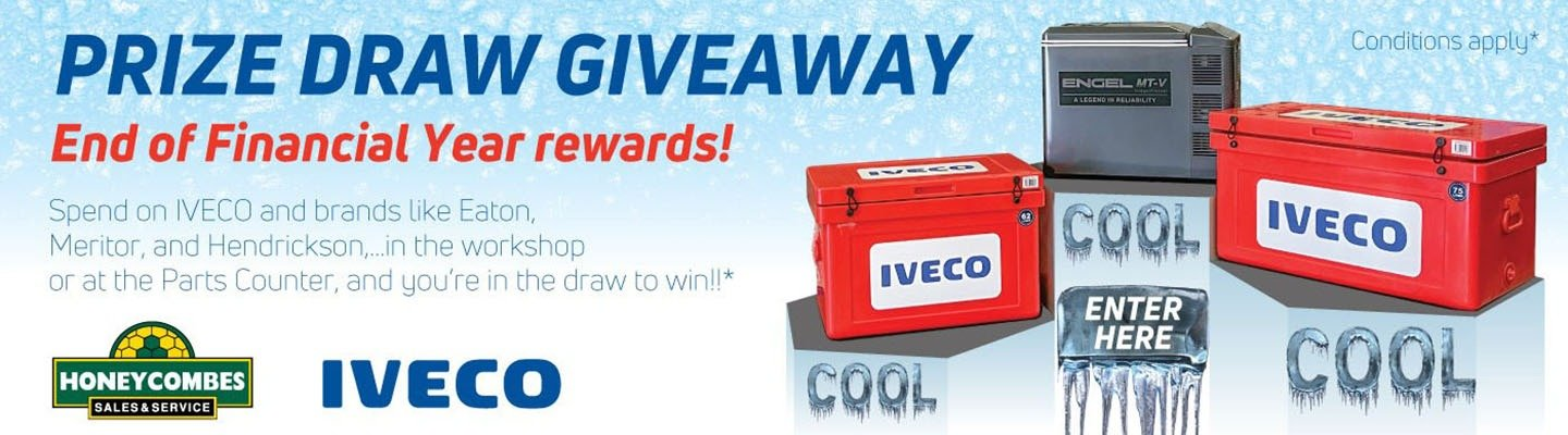 Prize Draw Giveaway - Honeycombes Iveco