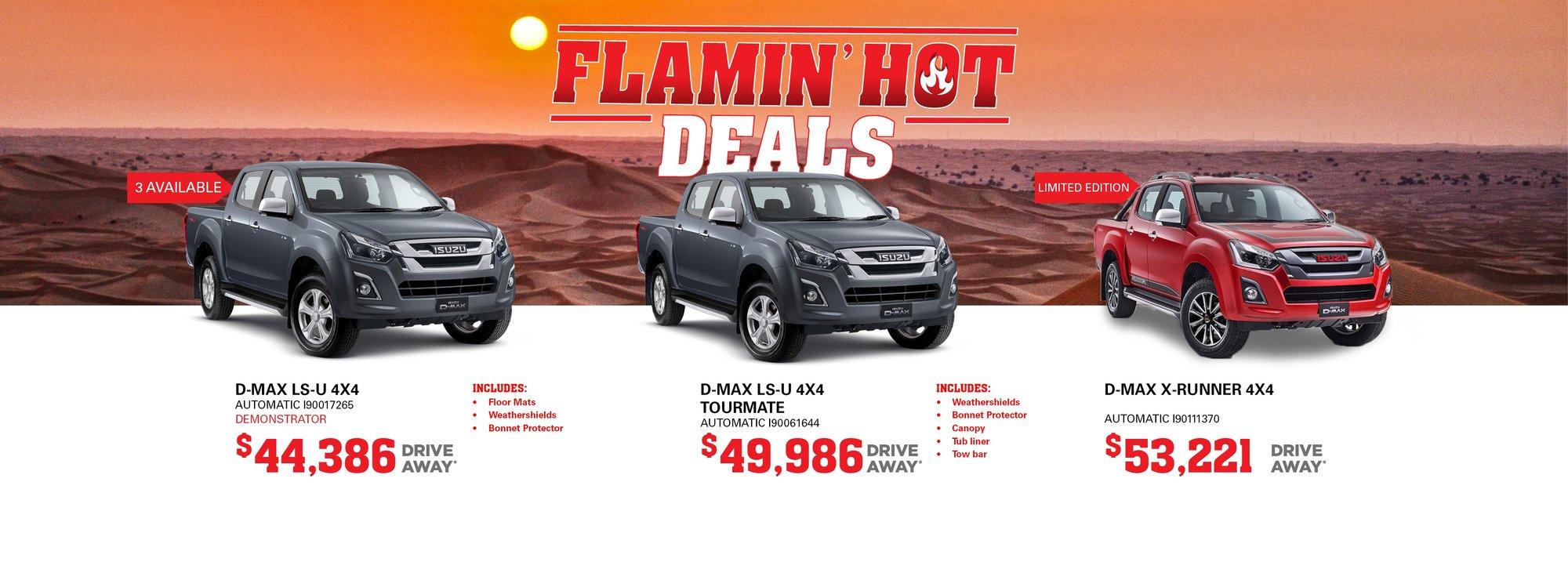 cardiff isuzu ute flamin hot deals