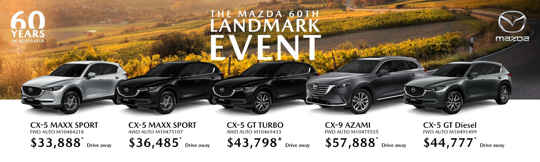 Mazda Landmark Sale Event