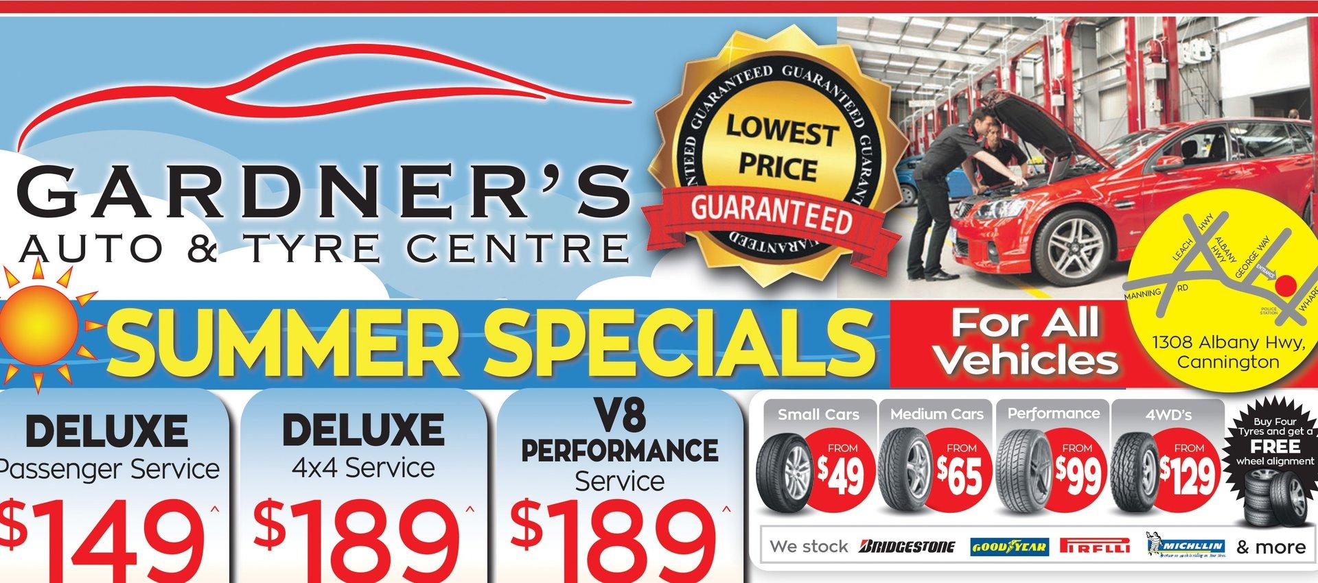 Gardner's Summer Specials