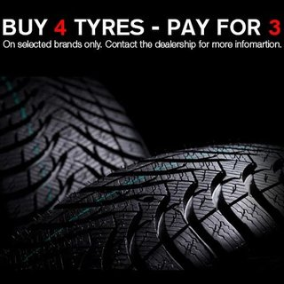 Tyre Special Buy 3 get one Free