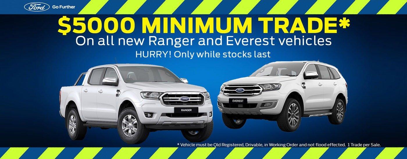 $5000 Minimum Trade On Ranger & Everest