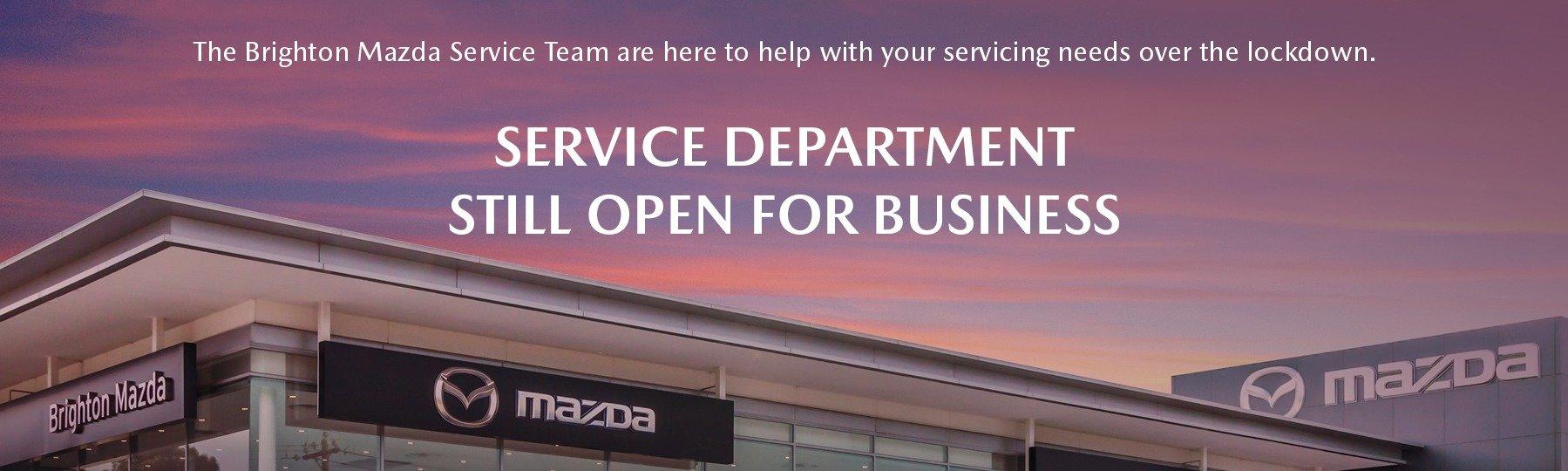 Service Department is Still Open