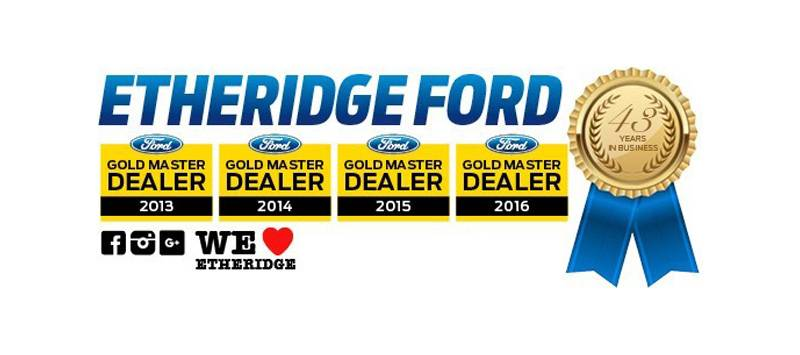 Etheridge Ford Gold Master Dealer 2013-2016