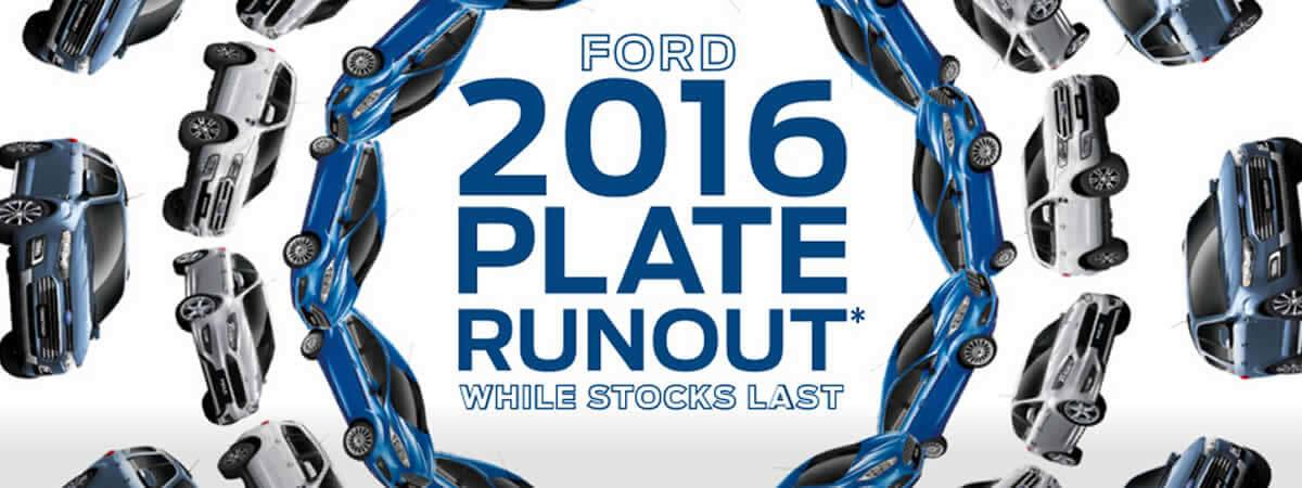 Ford 2016 Plate Offer