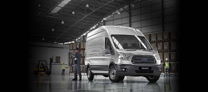 Ford Transit in Geraldton dealer showroom