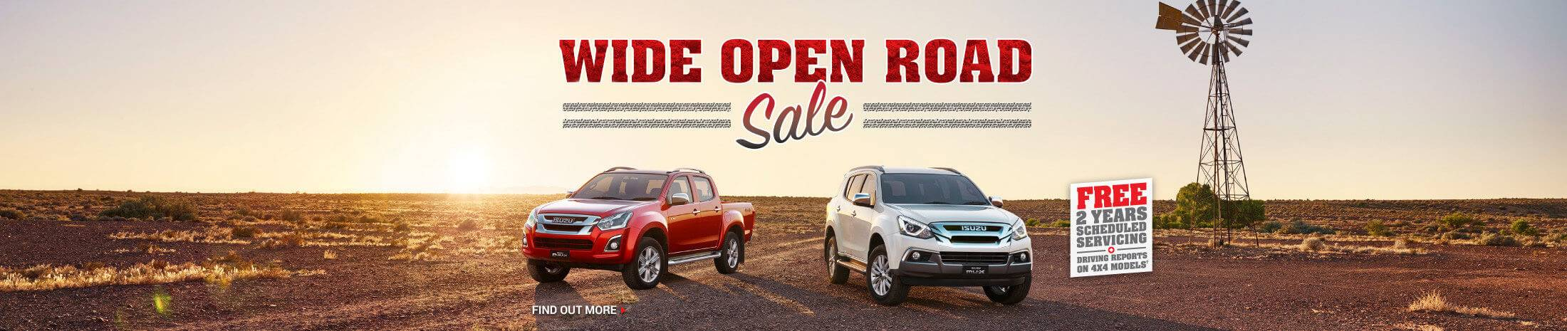 Wide Open Road Sale