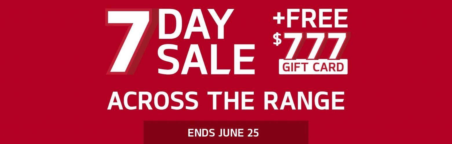 Kia 7 Day Sale Offer