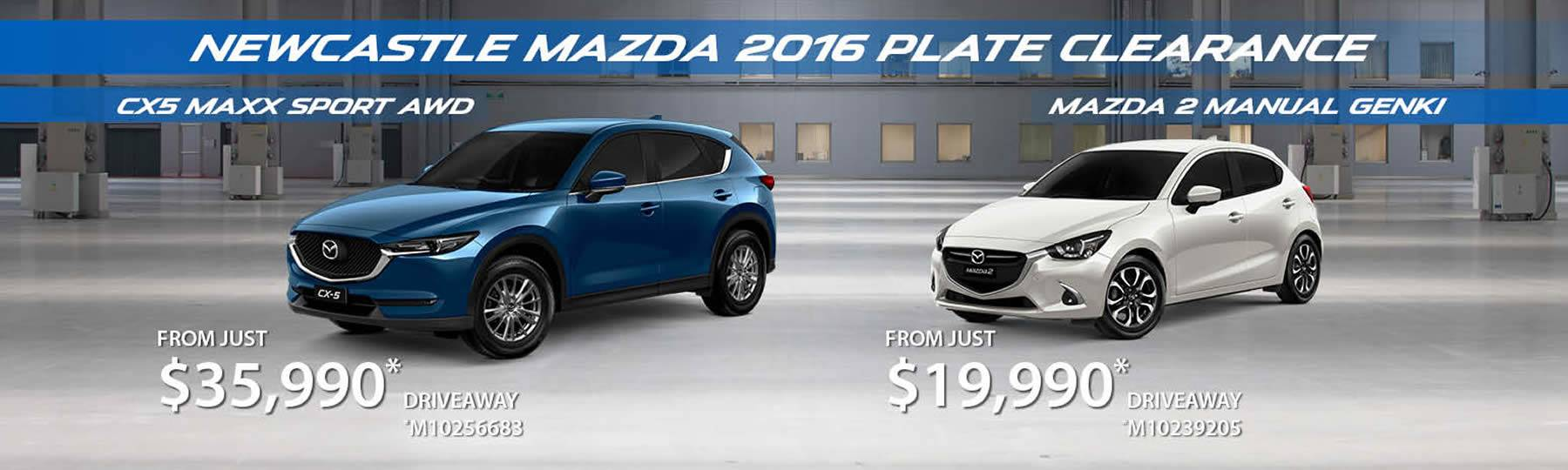 Newcastle Mazda Click Here for Special Offers