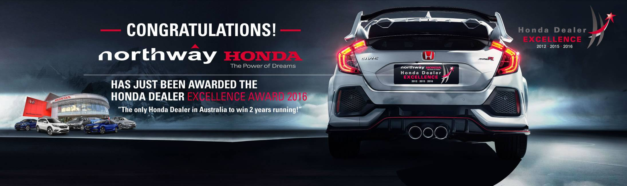 Northway Honda Excellence Award