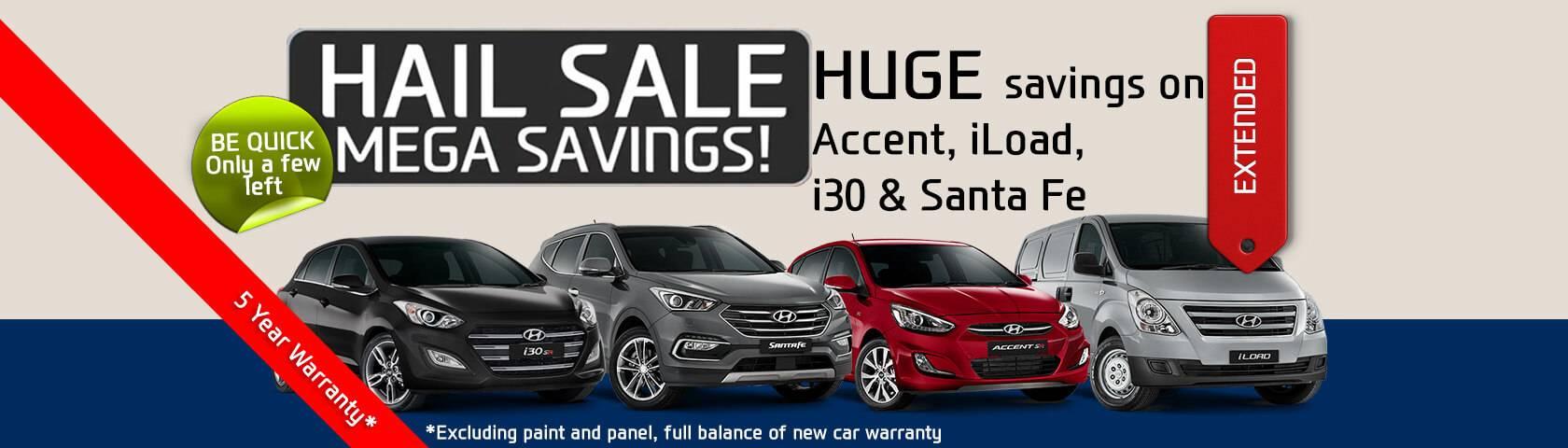 Hail Sale Mega Savings!