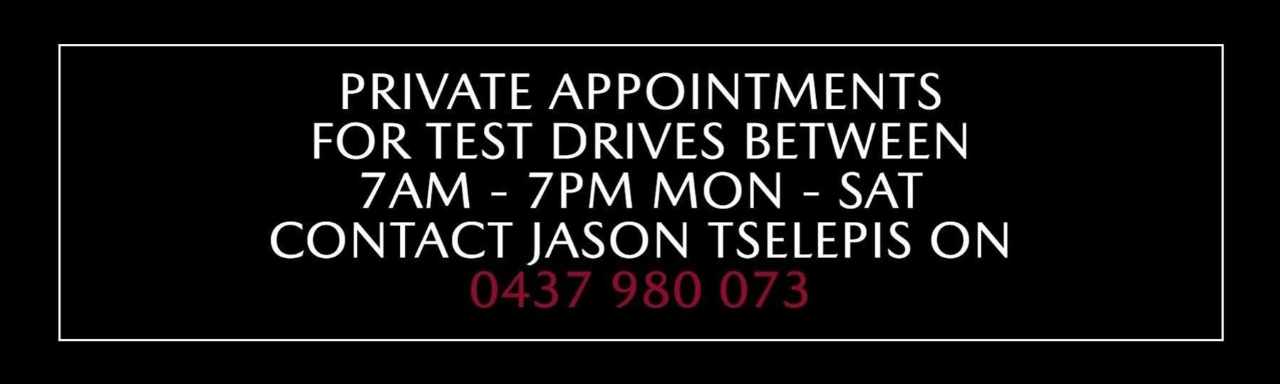 Sale Mazda Private Appointments