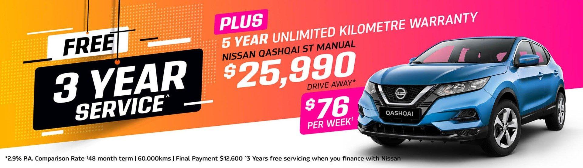 Parry NQ Nissan Qashqai Offer