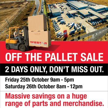 Westar Off the Pallet Sale - 2 Days Only Small Image