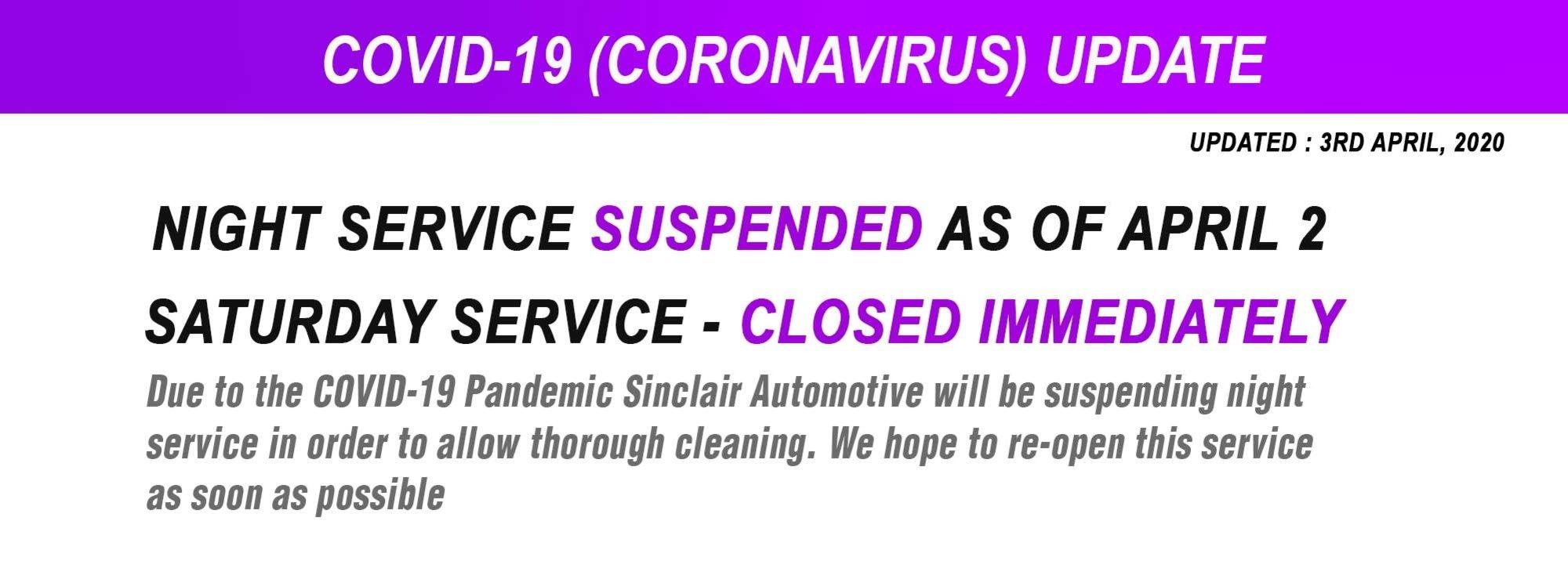 covid19 service update