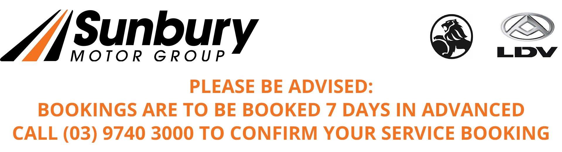 Sunbury Motor Group - Service Notice