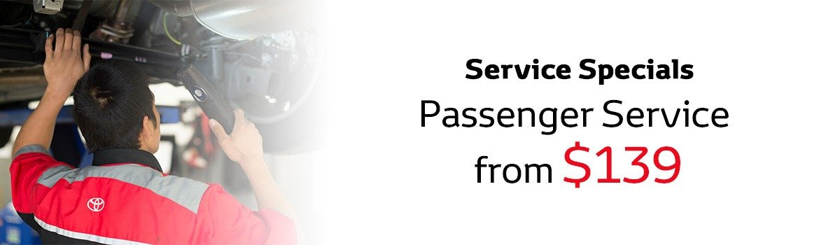 Passenger Service Special From $139  Large Image