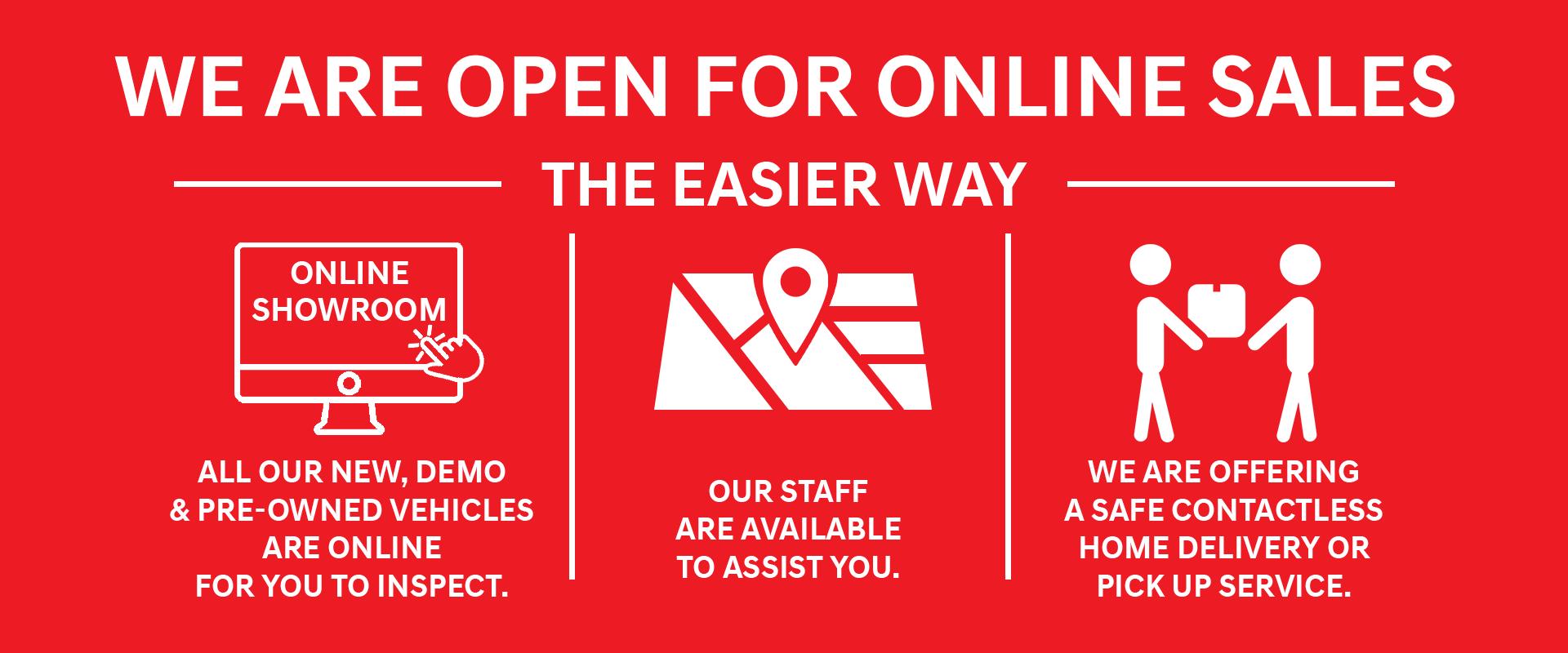Cranbourne MG - We are open online