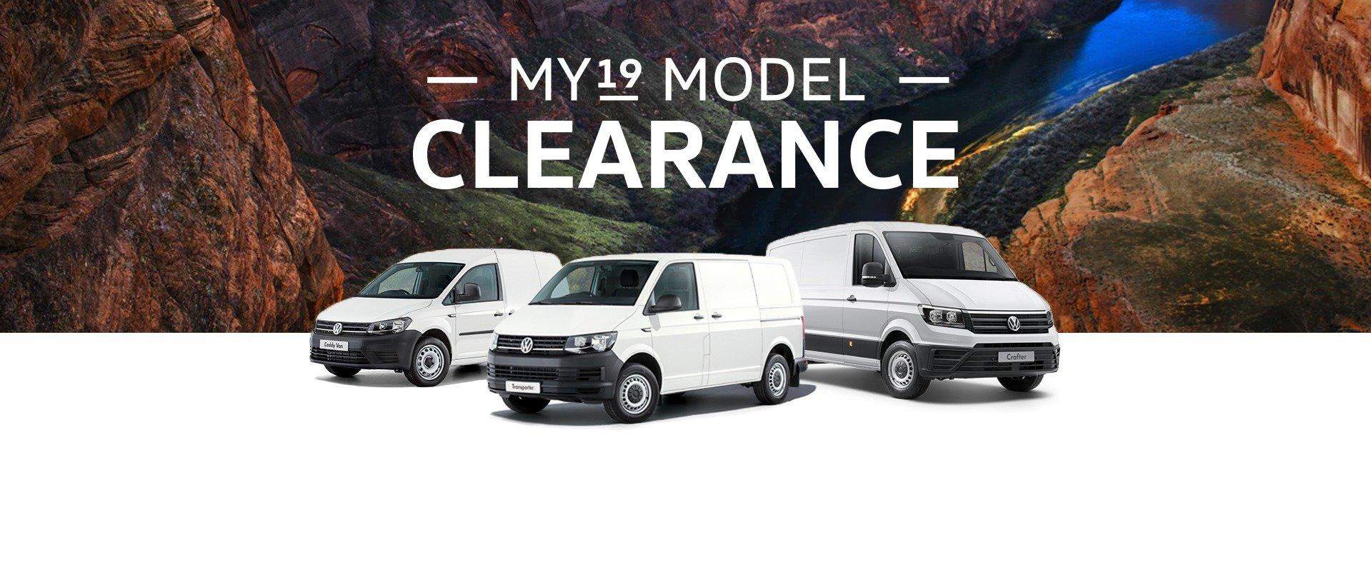 my19 van clearance