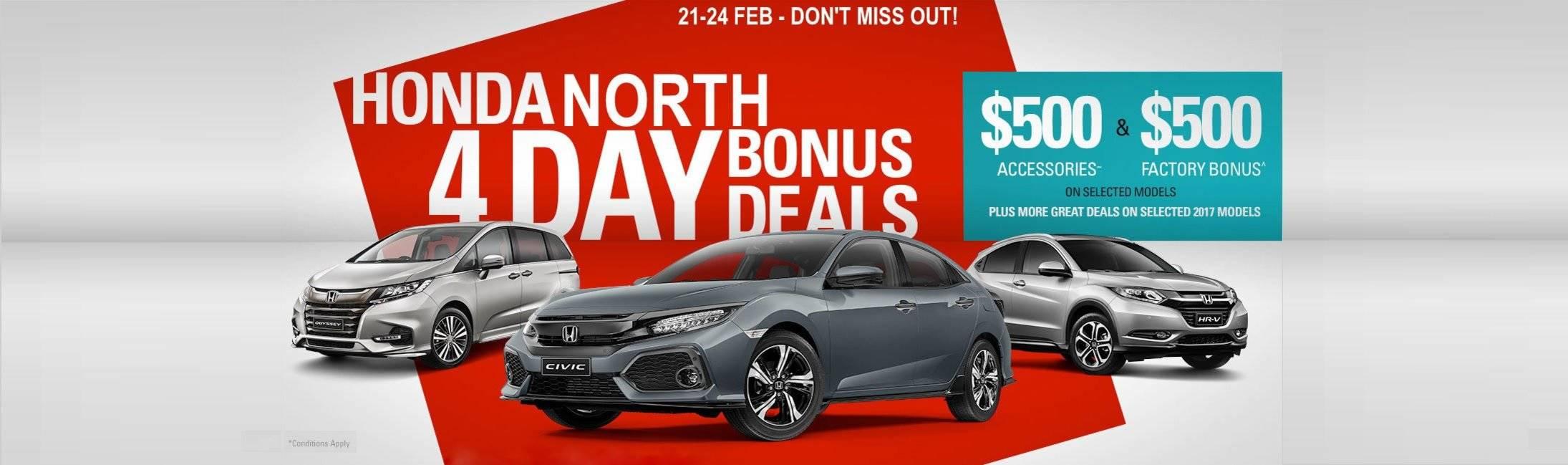Honda North 4 Day Bonus