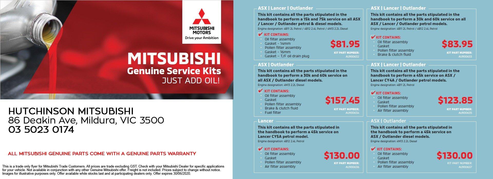 Mitsubishi Service Kits