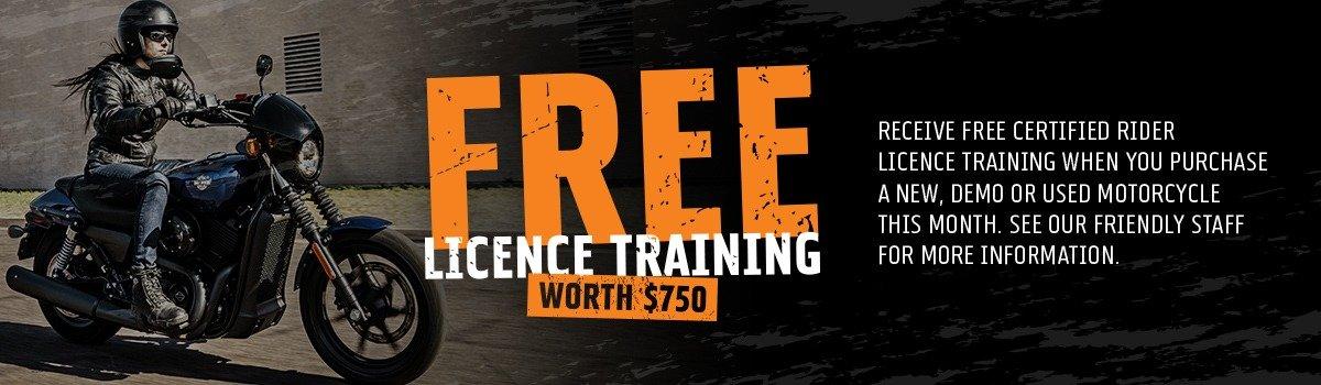 Free Licence Training Worth $750  Large Image