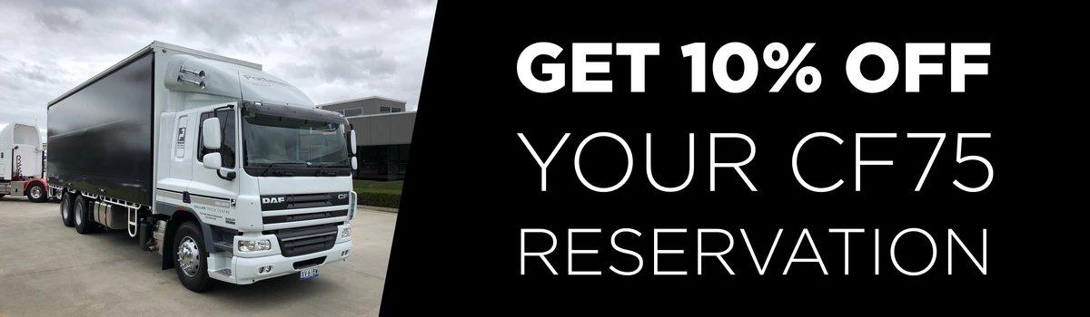 Get 10% off your CF75 rental reservation! Large Image