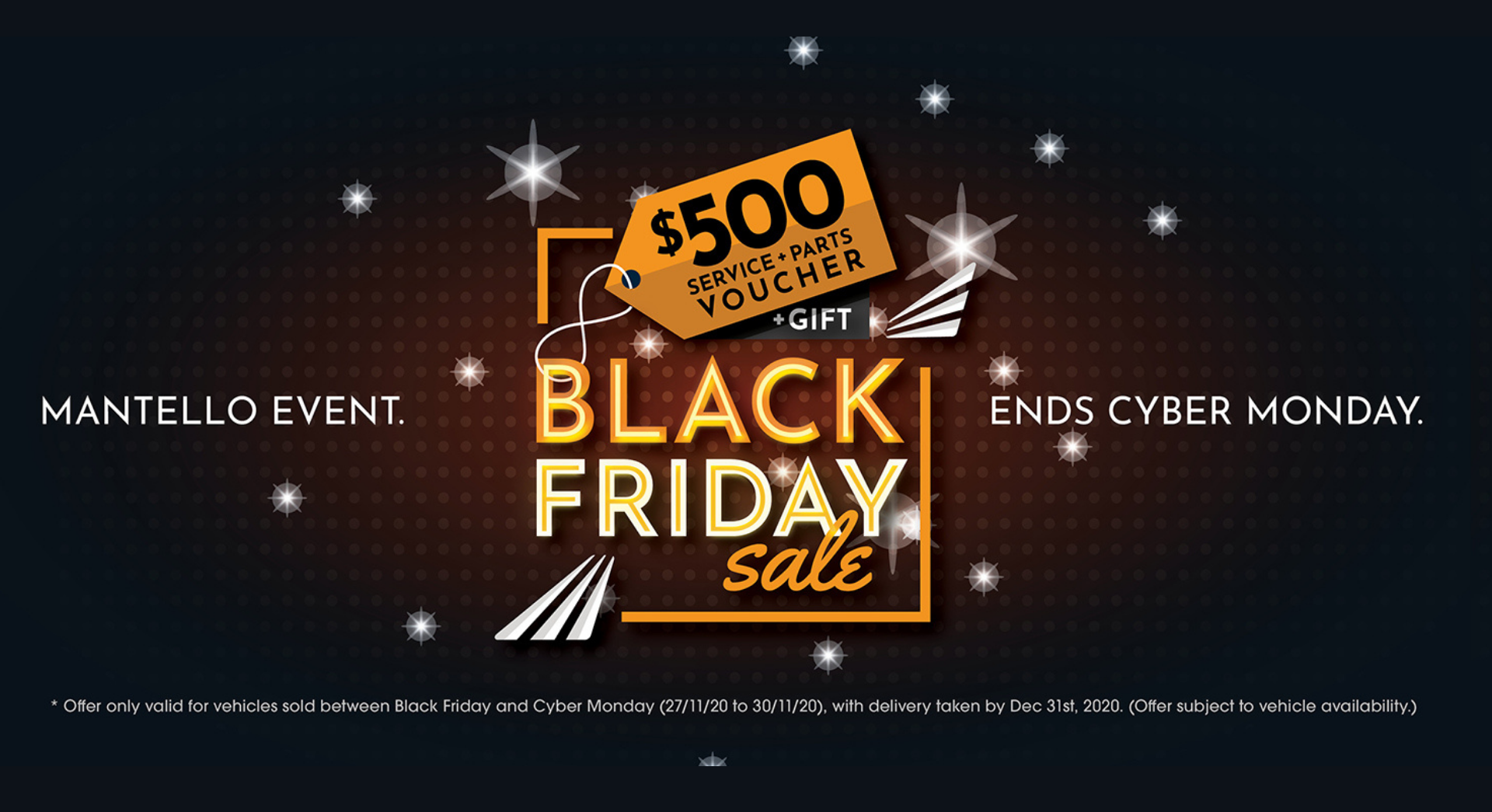 Mantello Motor Group - Black Friday Sale