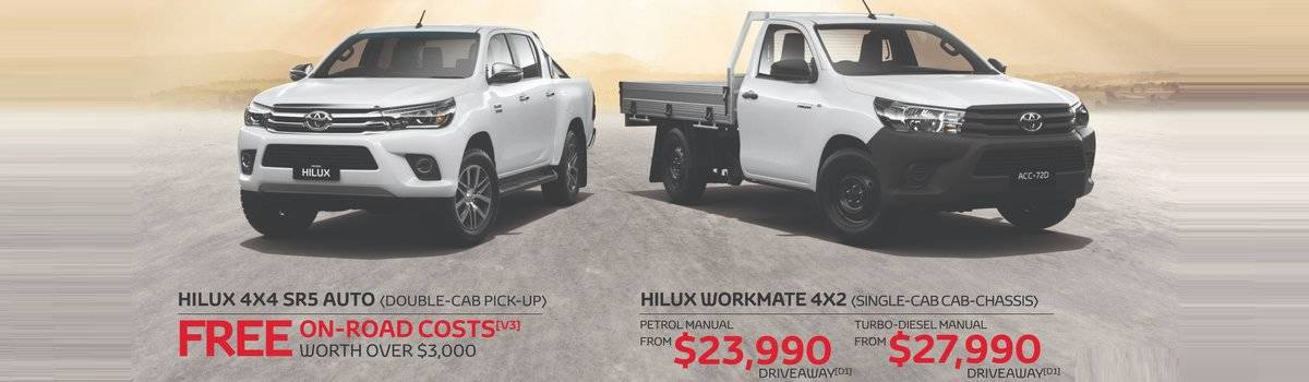 Waverley Toyota's Great Deals on HiLux 4x4 SR5 and HiLux 4x2  Large Image