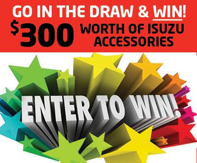 Win $300 worth of Isuzu accessories image